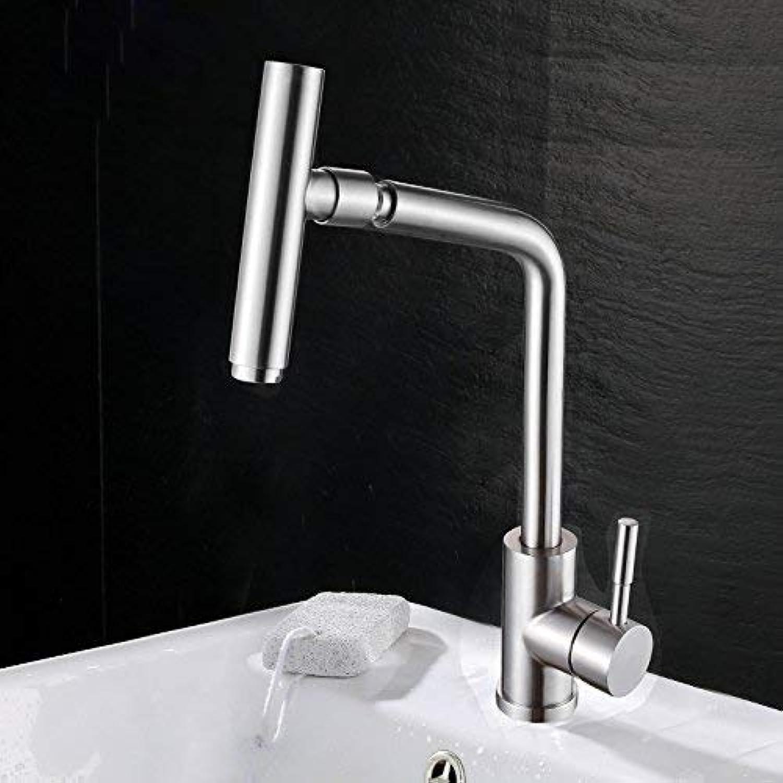 FAUCETS Home Küchenarmatur hei und kalt Waschbeckenbecken Pool drehbare Wasserhahn, hei und kalt Edelstahl Waschbecken Wasserhahn