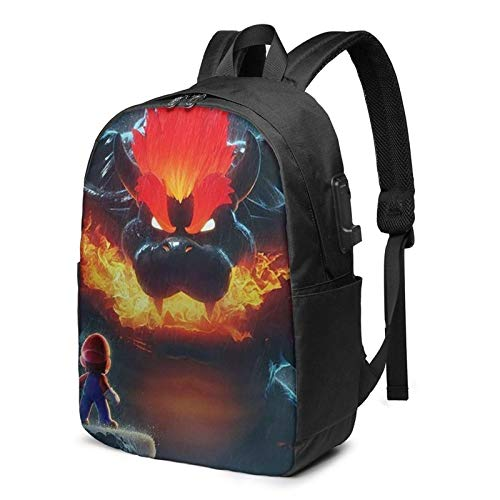 XCNGG Bow-Ser Koo-Pa Laptop Backpack 17 Inch Wide Open Computer Backpack Laptop Bag College Rucksack Water Resistant Business Travel Backpack Multipurpose Casual Daypack With Usb Charging Port For Wom