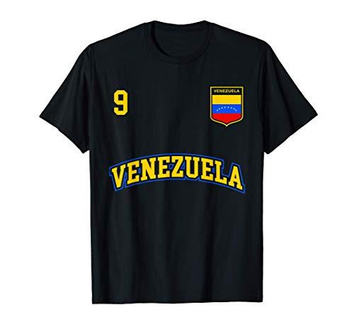 Equipo Deportivo Fútbol Venezuela No 9 Bandera venezolano Camiseta