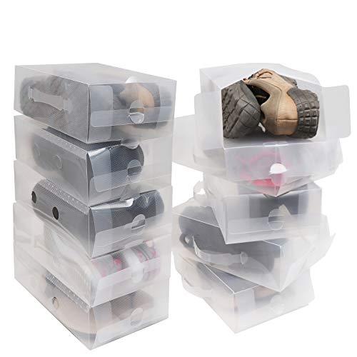 10-Pak Doorzichtige Plastic Opbergdozen voor Dames en Heren - Plastic Opvouwbare en Doorzichtige Dozen van Kurtzy - Ideaal voor op Reis