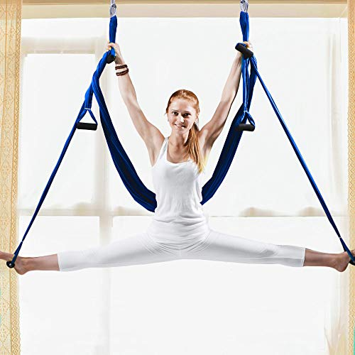 Great Deal! ENIDMIL Aerial Yoga Swing Set, Antigravity Aerial Air Yoga Hammock Indoor Fly Inversion ...