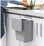 Jolitac Cubo de basura para colgar en la cocina, baño, inodoro, dormitorio,...