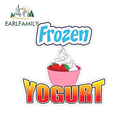 A/X 13 cm x 12,8 cm für Frozen Yogurt Vinyl Car Wrap Kreative Aufkleber Auto Grafik Aufkleber Reparatur Aufkleber Pull Flower