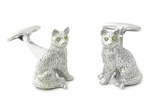 Boutons de manchette chat 3D- Cat 3d Safari Collection