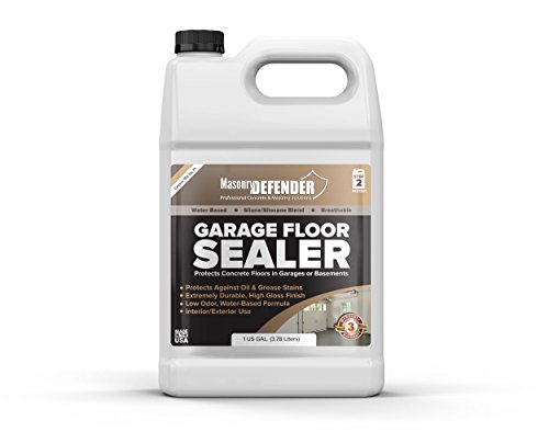 Garage Floor Gloss Sealer, 1 Gal - Clear, Water-Based Acrylic Sealer for Concrete Surfaces