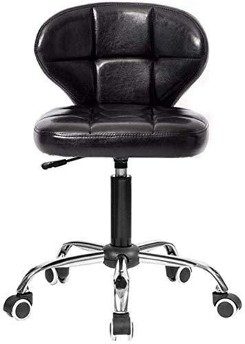 MHIBAX Silla para juegos Silla giratoria Silla de oficina Taburete ajustable con cojín trasero y sillón de ruedas universales (Color: Marrón)Negro
