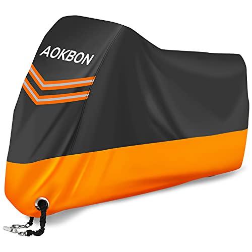 AOKBON Funda Moto Fundas Impermeables para Moto Protectora Impermeable y Resistente al...