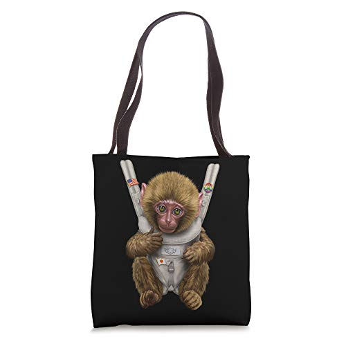 Japanese Monkey in Baby Carrier Tote Bag