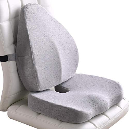 AYCYNI Almohadas lumbares lumbares lumbares Aumento de la Almohada de la Espuma de la Memoria de la Almohada Ortopédica con el Asiento del Confort para la Oficina y el Auto Alivio del bac.