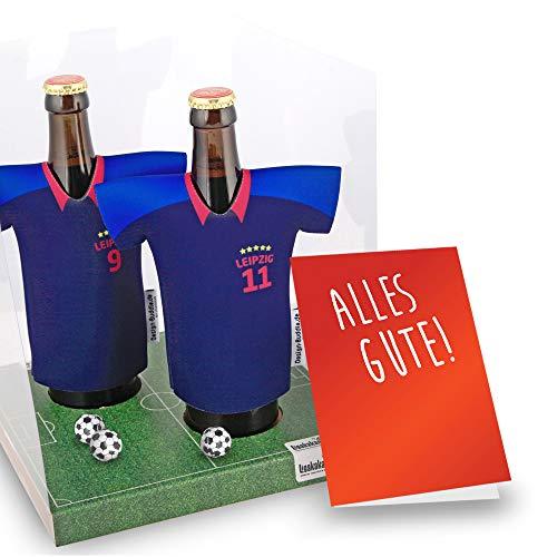 Der Trikotkühler | Das Männergeschenk für Leipzig-Fans | Langlebige Geschenkidee Ehe-Mann Freund Vater Geburtstag | Bier-Flaschenkühler by Ligakakao