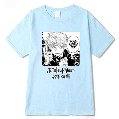 Mannen T-Shirt Anime Jujutsu Kaisen Cartoon Gojo Satoru Korte Mouw Street Fashion Mannelijke T-shirt Comfortabele Harajuku Kleding