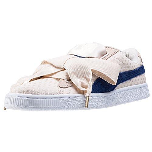 Puma Basket Heart Denim 36337103, zapatillas, color beige, talla 39 EU