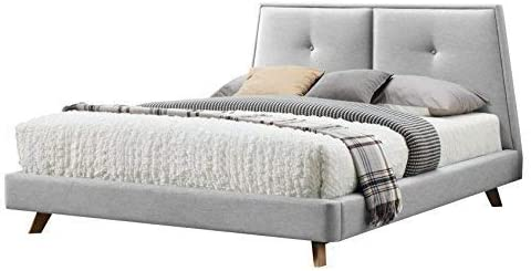 Omax Decor Kenzie Platform Bed Queen Light Gray product image