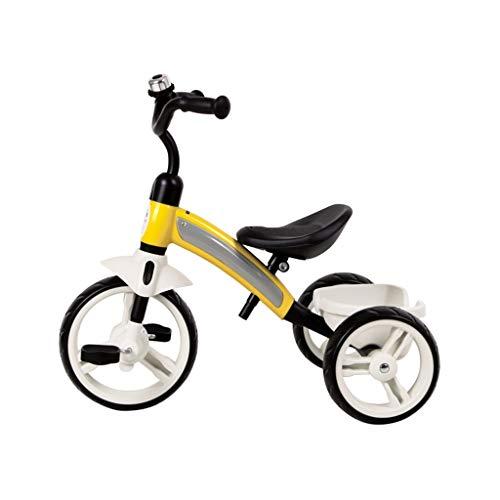 GYF Fácil de Regalos Llevan una niña Hijos pequeños niños en Triciclo Triciclo de niños de 1 a 3 años de Edad, niño de 3-6 años de Edad, es el Amor (Color : Yellow)