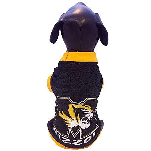 Bama Missouri Mizzou Tigers Licensed Dog Jersey (Medium 18-30 lbs)