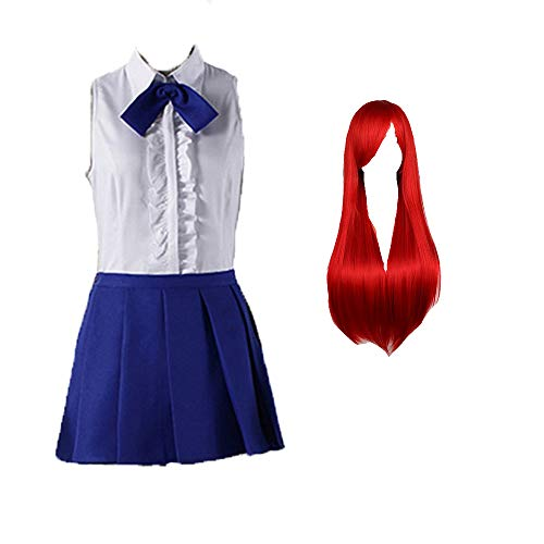 Shihong-G Fairy Tail Cosplay Erza Scarlet Cosplay Maid Dress Halloween Lolita Housemaid Costume for Women