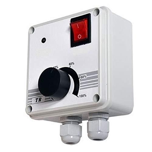 Industrie Drehzahlregler 900Watt, Drehzahlsteuerung für Ventilator, Gebläse, Lüfter, Ventilatoren 230V Drehzahlsteller Spannungsregler, Motor Motoren Dimmer 230 Volt V