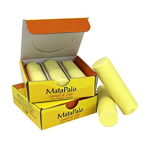6 Barritas de azufre - Remedio natural para los dolores cervicales, tortícolis, dolores articulares y resfriados