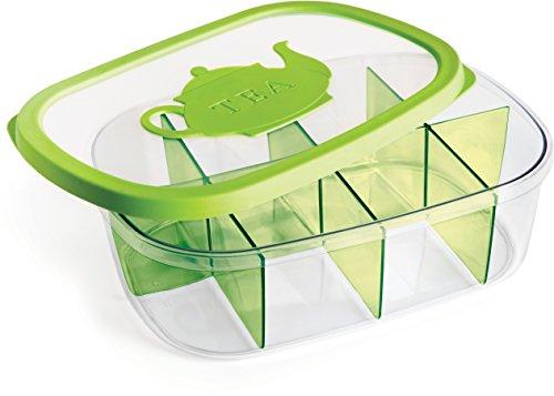 Kigima Teebox Teebeuteldose 3 Liter transparent/grün