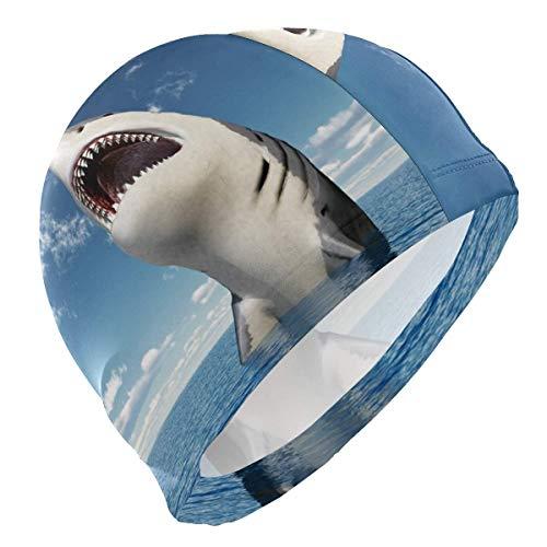 Badekappe mit Meerestier, Hai, Meerestiere, Badekappe für Männer, Jungen, Erwachsene, Jugendliche, Teenager, Badekappe, rutschfest