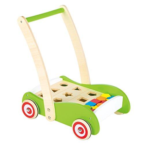 Lelin Toys - 31301 - Chariot à Pousser - Des Formes Avec Blocks