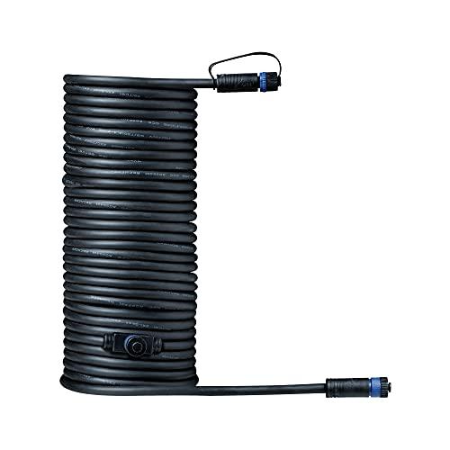 Paulmann 93928 Outdoor Plug&Shine Câble 10m 1 in-2 out, IP68, 2x1,5qmm H07RN-F, Noir