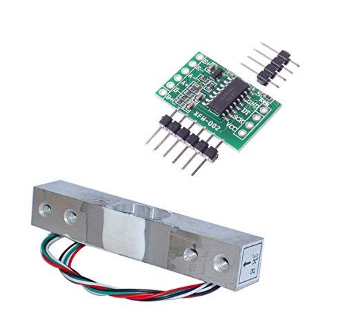 Aihasd Cella di carico Digitale Sensore di Peso 3KG Scala di Cucina Elettronica Portatile + HX711 Sensori di pesatura Modulo Ad per Arduino