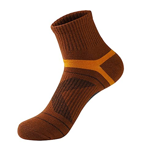 GCHBST Calcetines para Hombre Calcetines Al Aire Libre Calcetines De Baloncesto Calcetines De Baloncesto Desodorante Socks10 Pares,Marrón,One Size