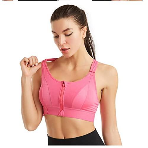 YIHANGJIA Top Deportivo Mujer Fitness Sujetador Deportivo Alto Impacto Ropa Gimnasio Ropa Yoga,Rosado,XXL