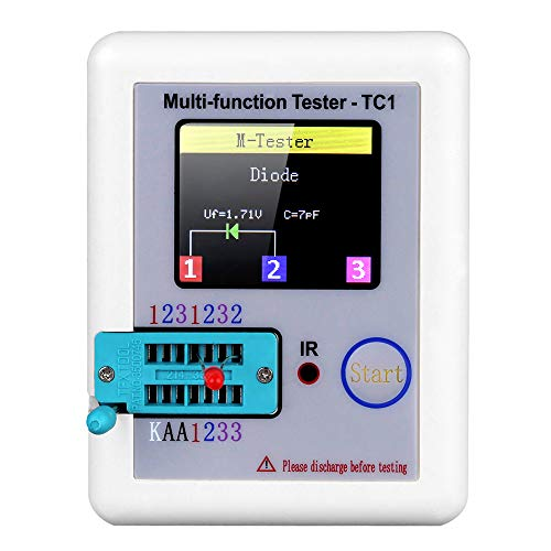 Multifunktional Transistor Tester, mit TFT Hintergrundbeleuchtung Farbe Anzeige Didoe Triode Kapazitiv Widerstand Detektor Induktivität MOSFET NPN PNP