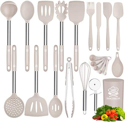 Silicone Cooking Utensil Set Taiker Kitchen Cooking Utensils Set Non stick Heat Resistant Silicone product image