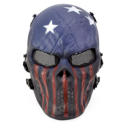 LHGXQ-Dp Máscara Fantasma Halloween Miedo, Nueva Máscara Camuflaje Calavera con Patrón Pitón, Máscara Táctica Tiro Juego Guerra CS Accesorios Película Cosplay,F,One Size