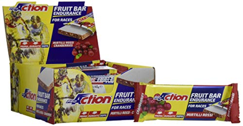 ProAction Fruit Bar (mirtilli rossi, confezione da 24 barrette da 40 g)