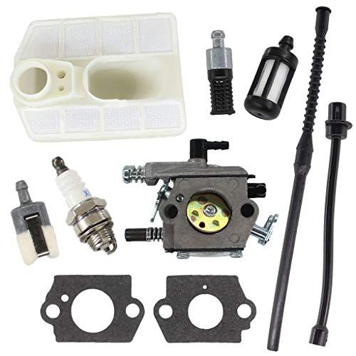 HURI Vergaser mit Dichtung Luftfilter Benzinschlauch Benzinfilter für Varan TT-CS5800, Viron VR-5800, Einhell Royal RPC2045 Kettensäge