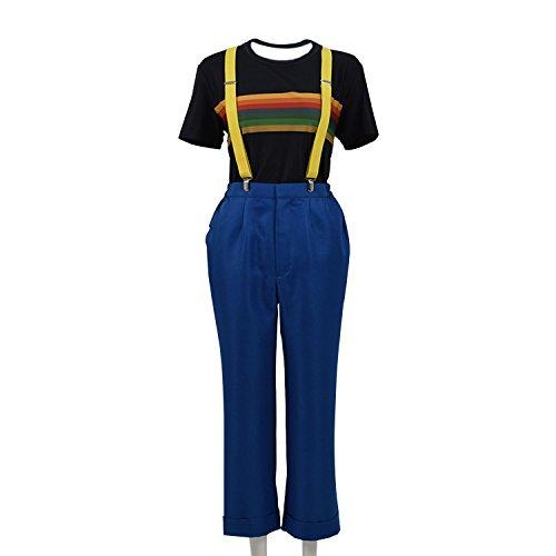 Jinlan Doktor dreizehnten 13. Dr. Who Cosplay Kostüm Mantel für Frauen (L, T-Shirt und Hosen)