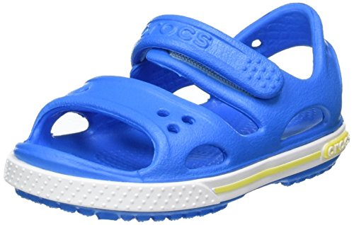 Crocs Crocband Ii Sandal Ps K, Unisex-Kinder Sandalen, Blau (Ocean/tennis Ball Green), 19-20 EU (4 UK)