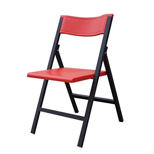 Sillas Plegables Banquete Interior al Aire Libre Silla Plegable Marco de Metal Fuerte Silla de Oficina de Camping para Cocina y Sala de Estar 5 Colores (Paquete de 5) Folding Chairs ( Color : Red )