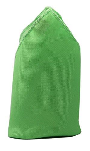 Pochette unie verte homme dandy cravate mouchoir costume