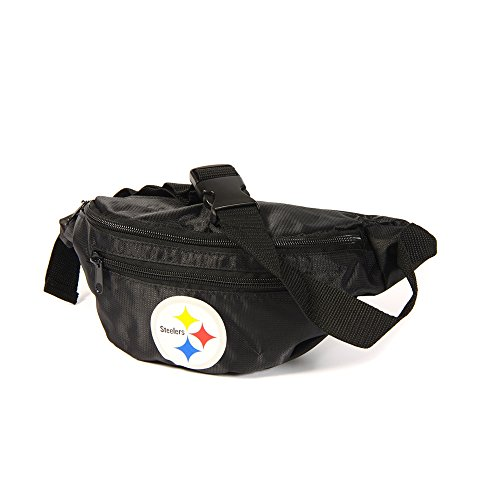 Forever Collectibles Pittsburgh Steelers Black NFL Bauchtasche