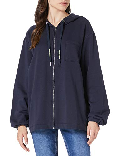 Armani Exchange Womens Hoodie Sweatshirt, Blueberry Jelly, M