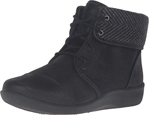 Clarks Women's Sillian Frey Boot, Black Synthetic Nubuck, 6.5 M US