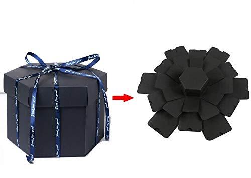 MOMENTS BOX Caja Explosion con forma Hexagonal para Regalo Sorpresa, Caja Sorpresa, Caja Regalo, Caja Album, Caja Regalo, Album de...