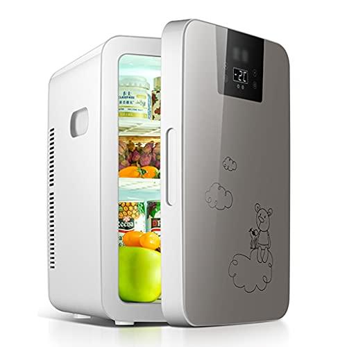 Frigoríficos mini Refrigerador Pequeño De 25L Refrigerador Para Automóvil Pequeño Refrigerador Doméstico Pequeño Congelador Refrigerador Individual Para Dormitorio ( Color : Gray , Size : 35*30*45cm )