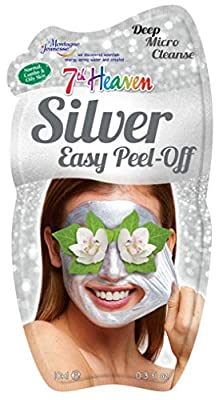 7th Heaven Silver Easy Peel Off Face Mask with Powered Smithsonite, Pressed Orchid and Crushed Violet for a Deep Micro Cleanse, Ideal for Normal, Combo and Oily Skin