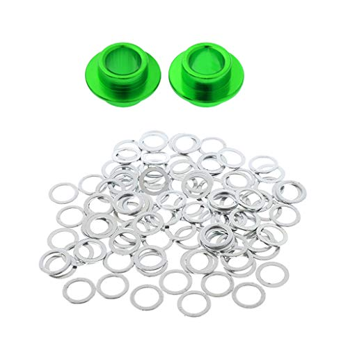 FLAMEER 100x Speedringe für alle Achsen Speed Rings washers for Skateboard Longboard - Grün