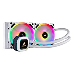 RGB PWM fans: Two Corsair LL120 RGB White PWM fans deliver a blast of color from 16 LEDs each, along with improved airflow for extreme CPU cooling performance. Air flow 63 CFM. Noise level 36.0 decibels Special edition style: SE features brilliant wh...