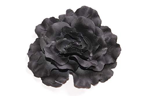 FreshFunkyFashion - Broche para el pelo, diseño de flores negras