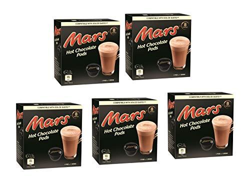 Dolce Gusto Twix/Mars Bevanda al Gusto di Cioccolato, 8 Capsule (Mars, 5 Scatole: 40 capsule)