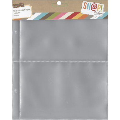 Simple Stories 6x8-inch Page Protectors with (2) 4x6-inch Divided Pockets, 10-Pack
