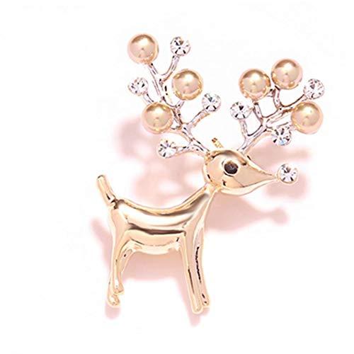 Navidad Broche Broche De Ciervos Navidad De La Aleación Pin Collar De...
